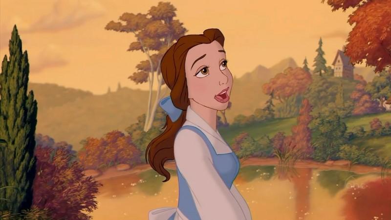 La dolce Belle in una scena del film d'animazione La bella e la bestia (1991)