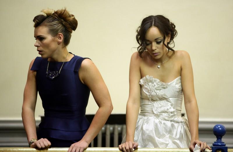 Billie Piper ed Ashley Madekwe nella stagione 3 di Diario di una squillo perbene
