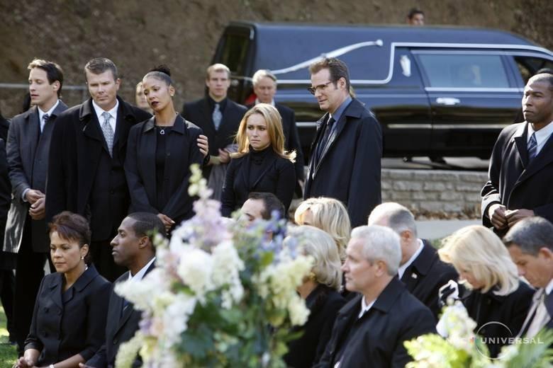 Hayden Panettiere e Jack Coleman in una scena di Let It Bleed dalla quarta stagione di Heroes