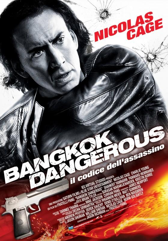 La locandina italiana di Bangkok Dangerous con Nicolas Cage