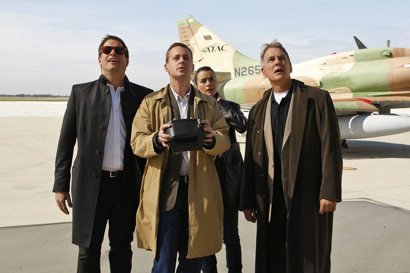 Michael Weatherly, Sean Murray, Cote de Pablo, Mark Harmon nell'episodio Ignition di Navy NCIS