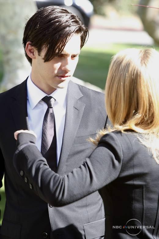 Milo Ventimiglia e Hayden Panettiere in una scena di Let It Bleed dalla quarta stagione di Heroes