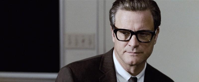 Un primo piano di Colin Firth dal film A Single Man di Tom Ford