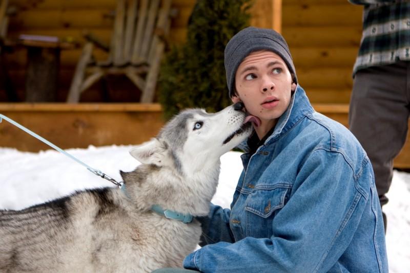 Devon Graye e il cane Buck in un'immagine del film Il richiamo della foresta 3D