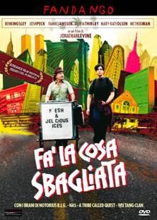 La copertina di Fa' la cosa sbagliata (dvd)