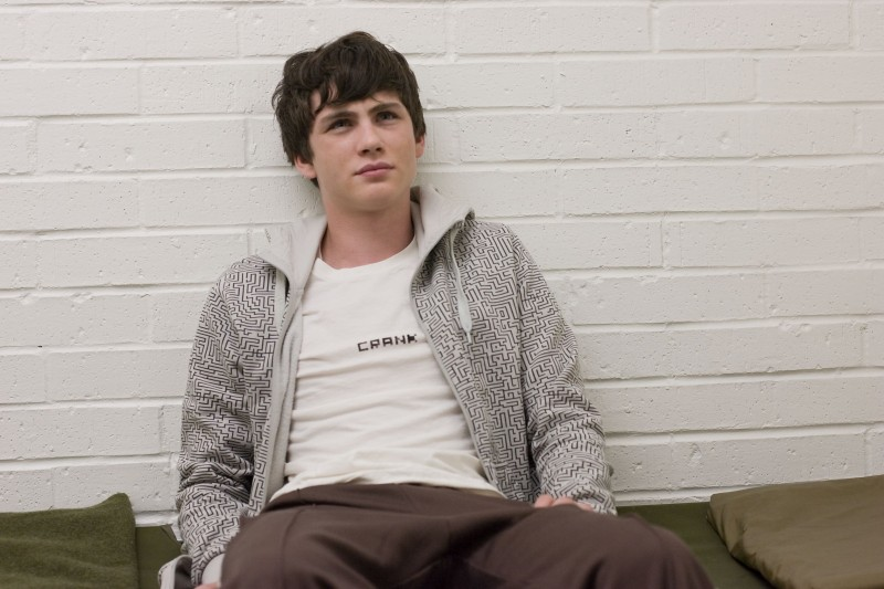 Logan Lerman in un'immagine tratta dal film Gamer