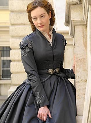 Cristiana Capotondi è Sissi, imperatrice d'Austria in una immagine promo della fiction