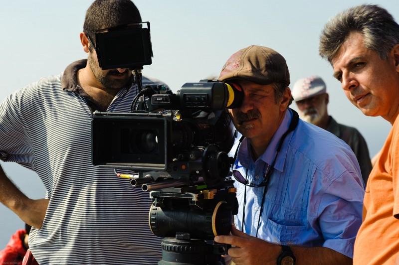 Il regista Alessandro D'Alatri sul set del suo film Sul mare