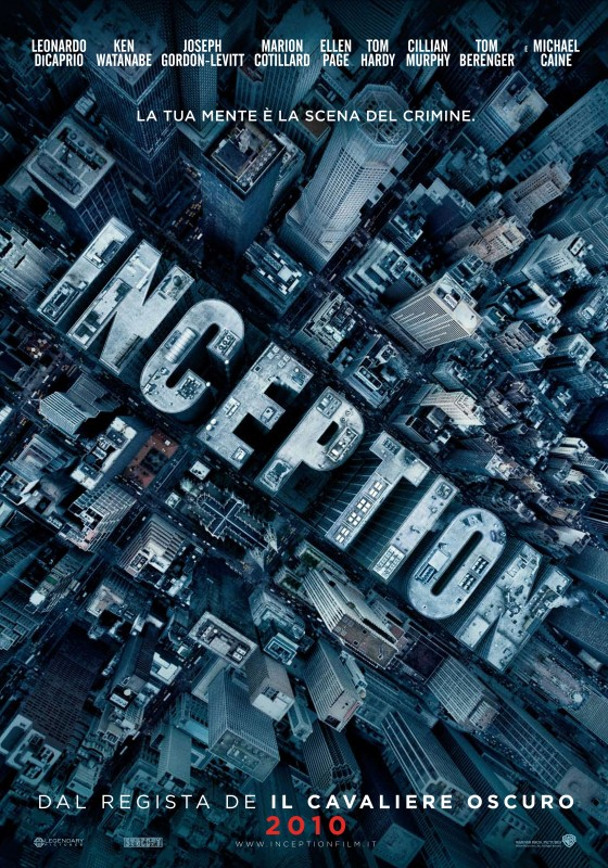 La locandina italiana di Inception