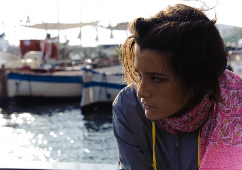 Martina Codecasa in un'immagine tratta dal film Sul mare di Alessandro D'Alatri