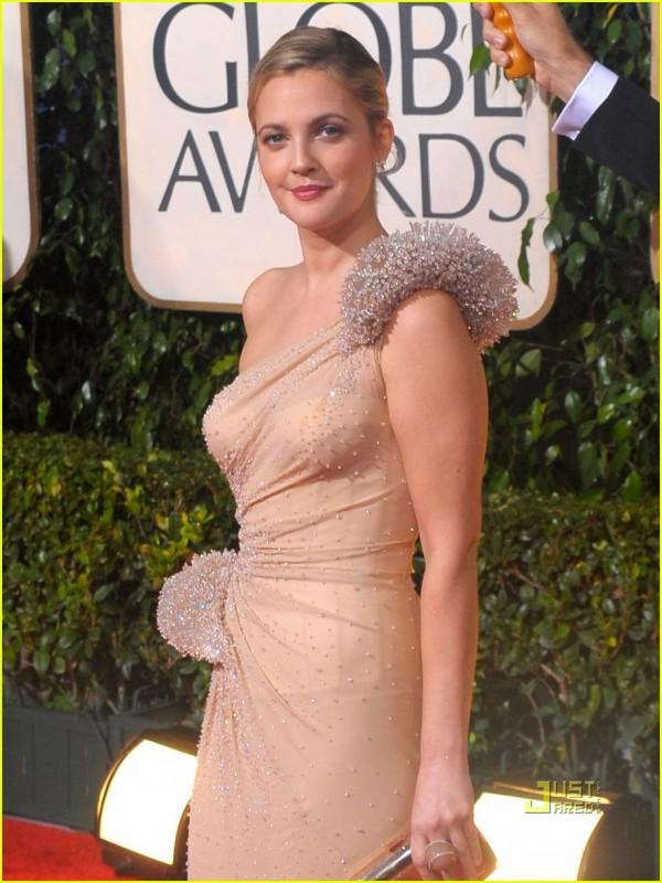 Drew Barrymore sul tappeto rosso dei 67° Golden Globes (2010)