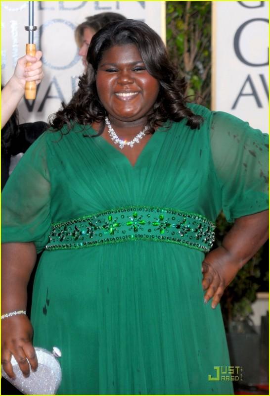 Gabourey 'Gabby' Sidibe, protagonista di Precious, sul tappeto rosso dei 67° Golden Globes (2010)