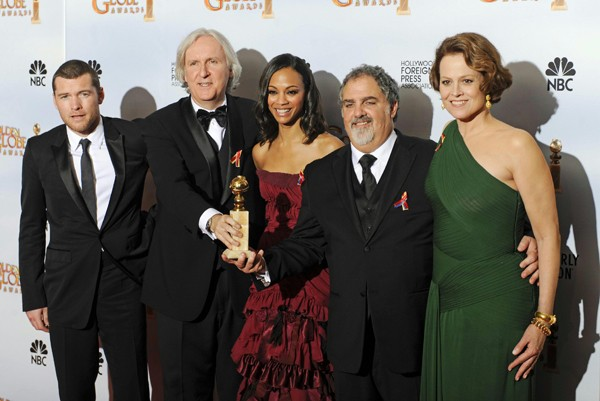 James Cameron ed il cast di Avatar ai Golden Globes 2010