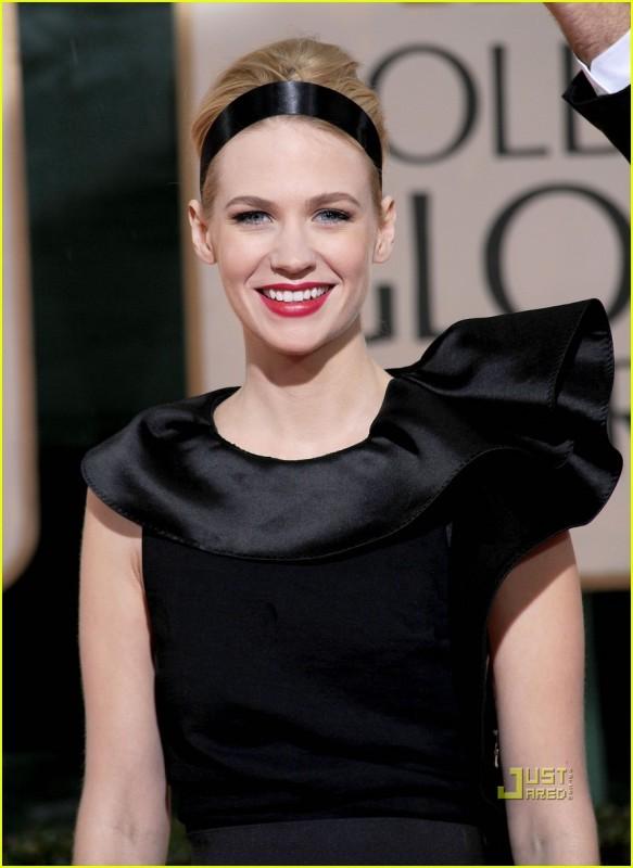 January Jones sul tappeto rosso dei 67° Golden Globes (2010)