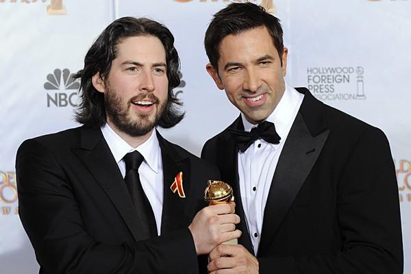 Jason Reitman e Sheldon Turner ai Golden Globes 2010