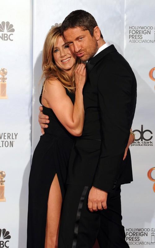 Jennifer Aniston e Gerard Butler ai Golden Globes 2010
