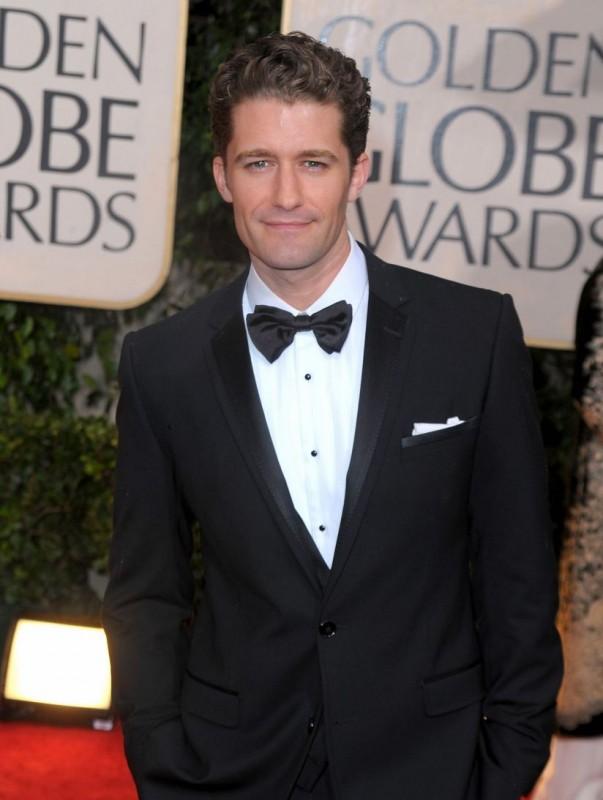 Matthew Morisson, protagonista di Glee, sul tappeto rosso dei 67° Golden Globes (2010)
