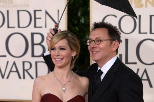 Michael Emerson e Carrie Preston sul tappeto rosso dei 67° Golden Globes (2010)