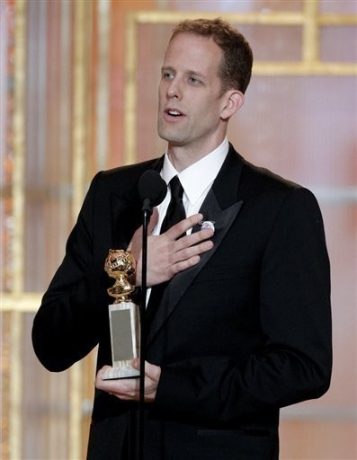 Pete Docter riceve il premio per Up come miglior film d'animazione ai Golden Globes 2010