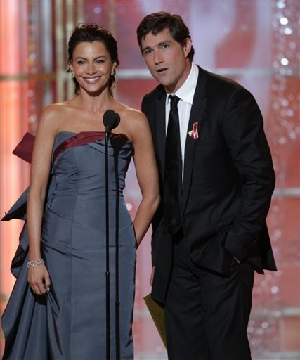 Sofia Vergara e Matthew Fox ai Golden Globes 2010