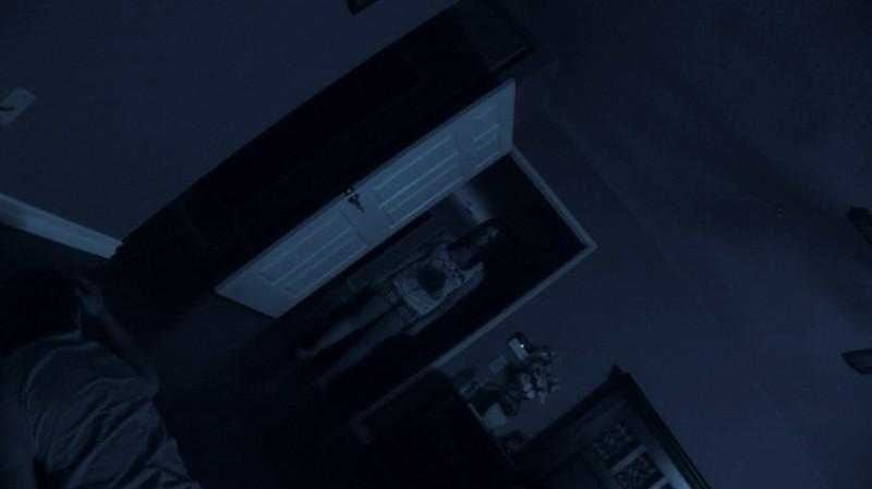 Un'immagine dell'horror Paranormal Activity con Katie Featherston