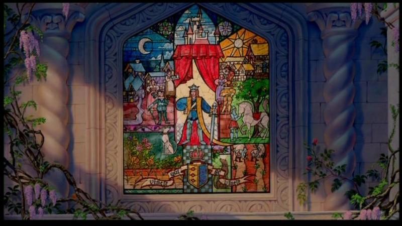 Una delle scene iniziali del cartoon La bella e la bestia