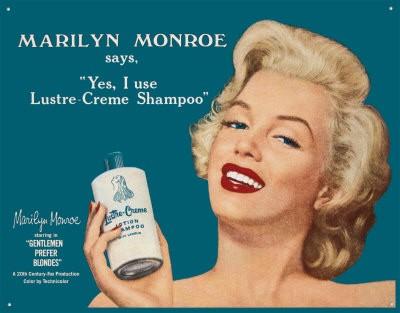 Marilyn Monroe in un manifesto pubblicitario
