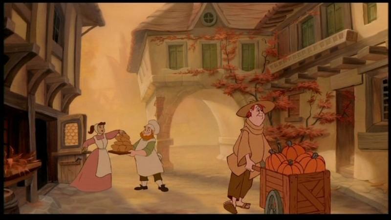 Una scena del film d'animazione La bella e la bestia