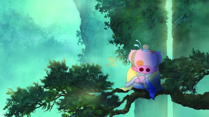 Una scena del film d'animazione McDull, Kung Fu Kindergarten
