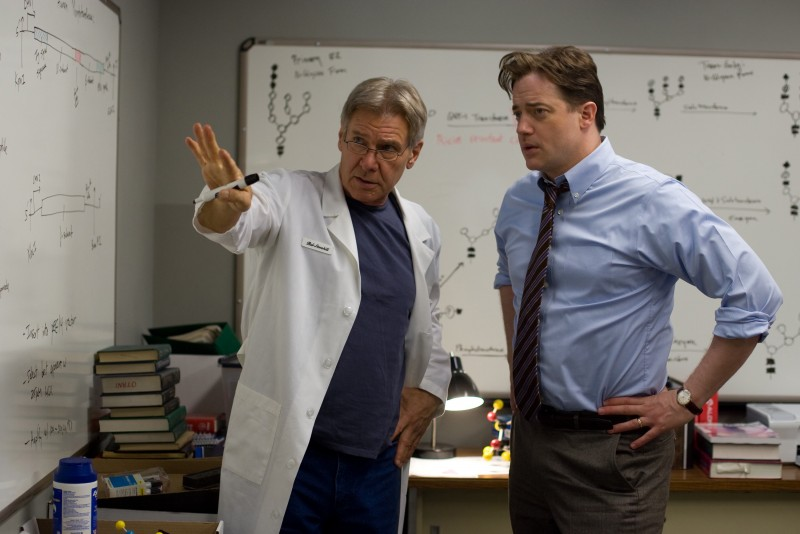 Harrison Ford e Brendan Fraser in una scena del film Extraordinary Measures