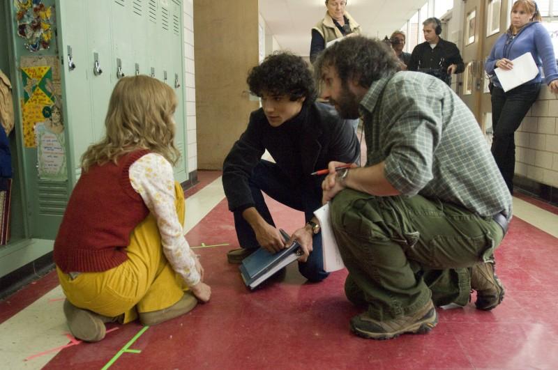Saoirse Ronan e Reece Ritchie con il regista Peter Jackson sul set di Amabili resti