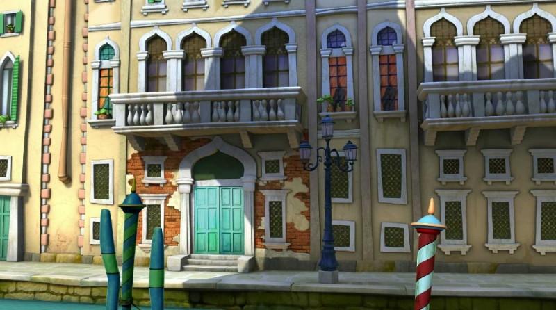 Uno scorcio di Venezia in un'immagine di Cuccioli - Il codice di Marco Polo