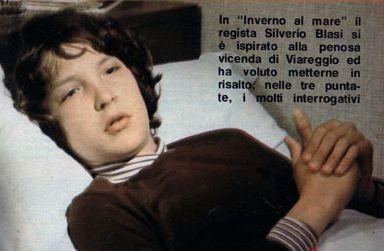 Christian Fassetta in una scena del film tv Un inverno al mare (1982)