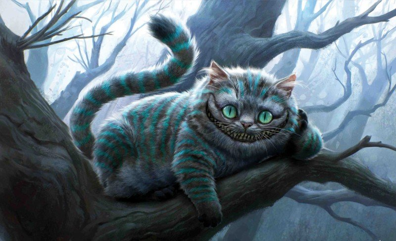 Il sornione Stregatto di Alice in Wonderland di Tim Burton