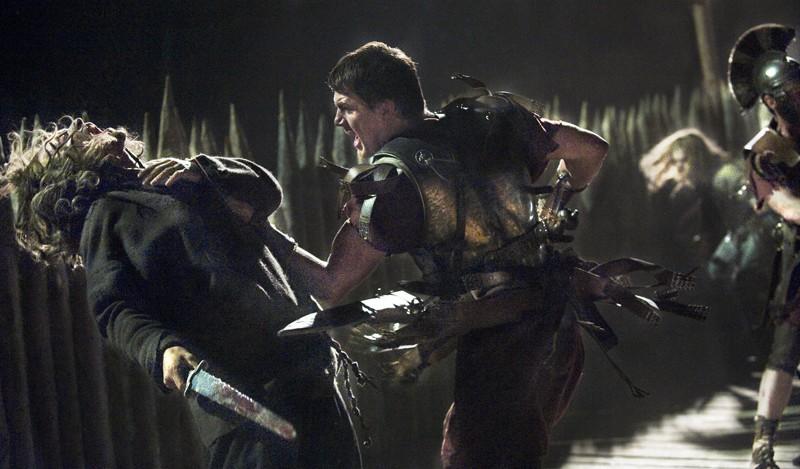 Marcus Aquila (Channing Tatum) in una sequenza d'azione nel film The Eagle of the Ninth