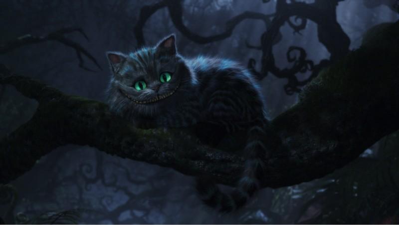 L'immagine finale in progression caption dello Stregatto di Alice in Wonderland di Tim Burton