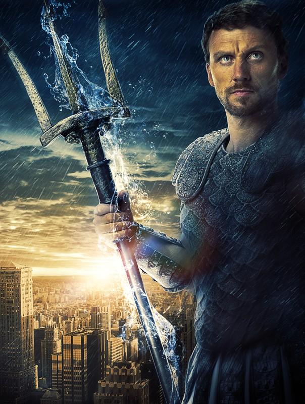 Un'immagine promo di Kevin McKidd (Poseidon) nel film Percy Jackson e gli dei dell'Olimpo: Il ladro di fulmini