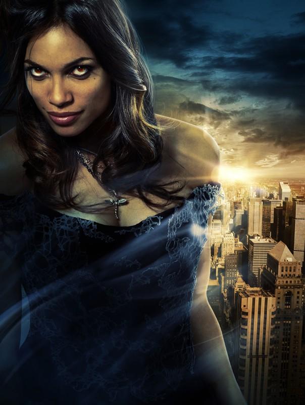 Un'immagine promo di Rosario Dawson (Persephone) nel film Percy Jackson e gli dei dell'Olimpo: Il ladro di fulmini
