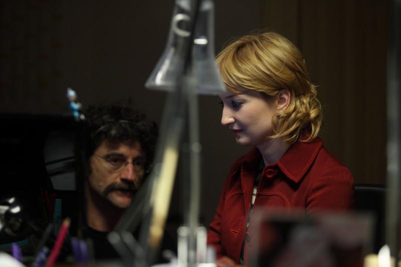 Alba Rohrwacher e il regista Silvio Soldini sul set del film Cosa voglio di più
