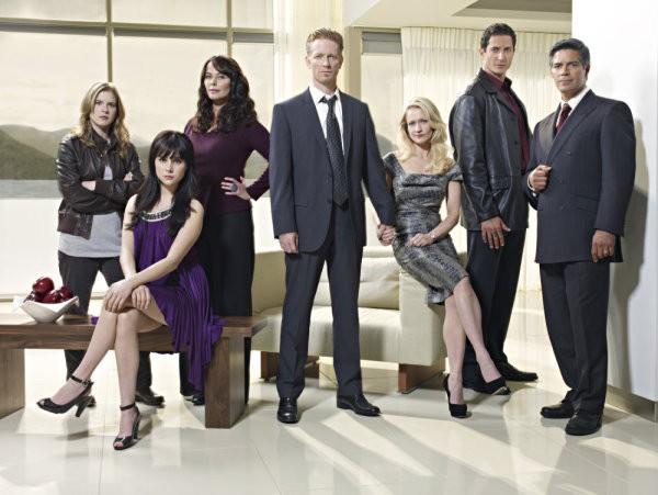 Caprica: una foto promozionale del cast della serie