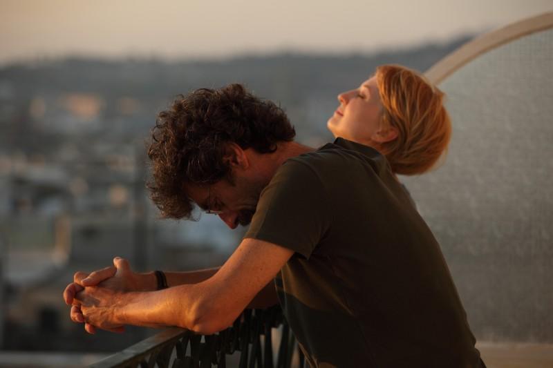 Il regista Silvio Soldini e Alba Rohrwacher sul set del film Cosa voglio di più