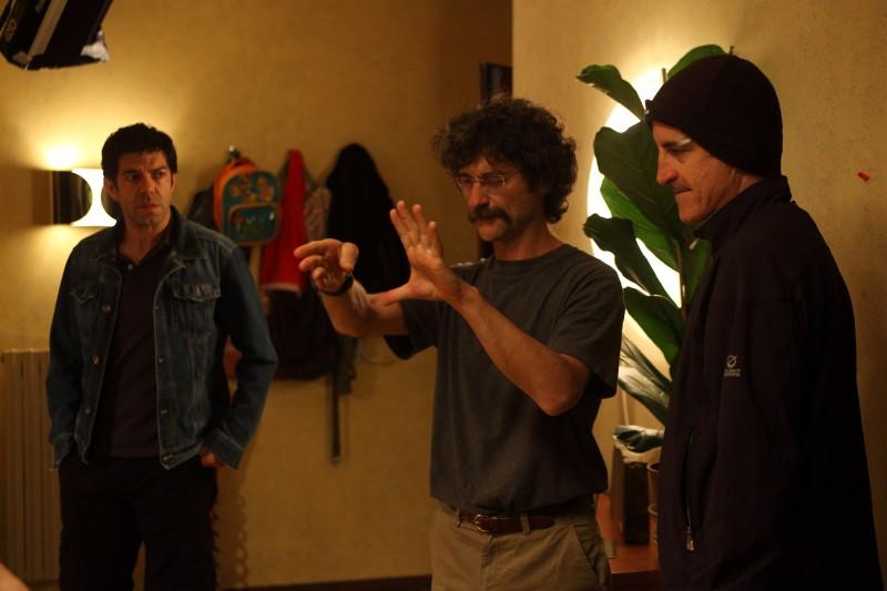 Pierfrancesco Favino, Silvio Soldini e Fabio Troiano sul set del film Cosa voglio di più