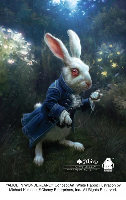 Alice in Wonderland: concept art realizzato da Michael Kutsche per il Bianconiglio