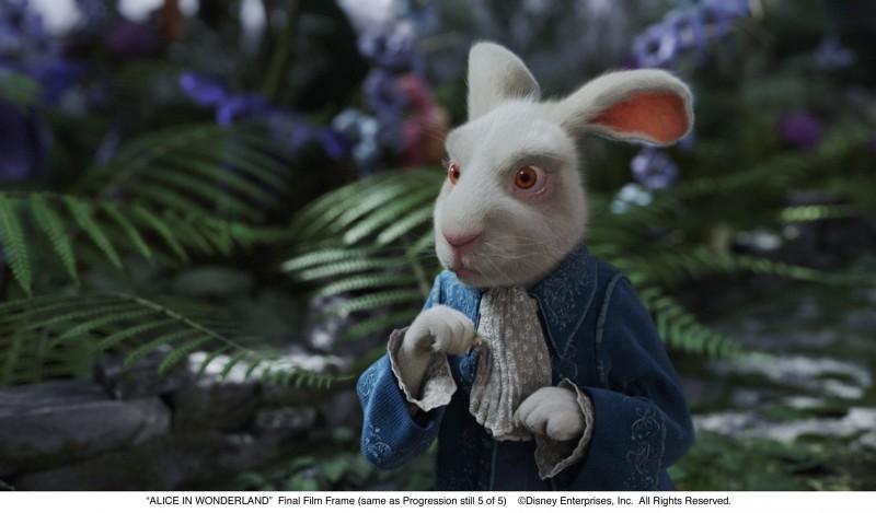 Alice in Wonderland: il frettoloso Bianconiglio del film di Tim Burton