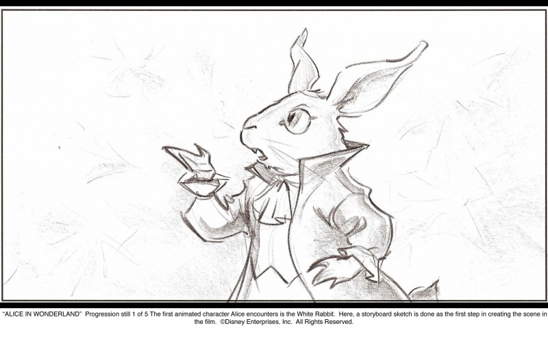 Alice in Wonderland, sketch preliminare per una scena del film di Burton