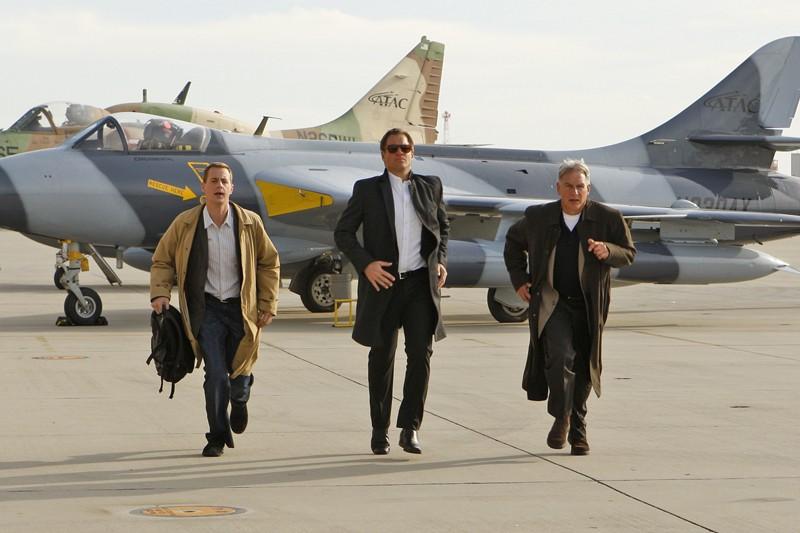 Una sequenza dell'episodio Ignition di Navy NCIS con Sean Murray, Michael Weatherly e Mark Harmon