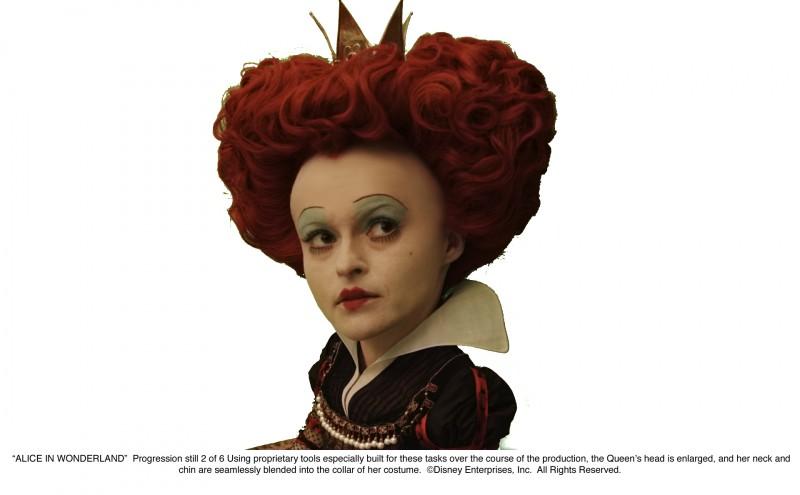 Alice in Wonderland: secondo 'progression still' che illustra lo sviluppo di una sequenza nella quale appare Helena Bonham Carter