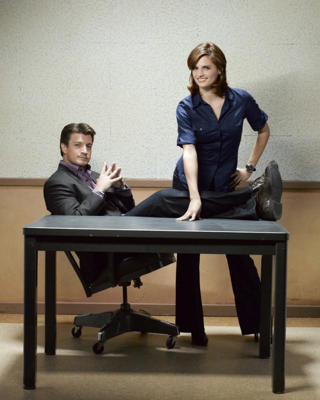 Castle: Nathan Fillion e Stana Katic in una foto promozionale della stagione 2