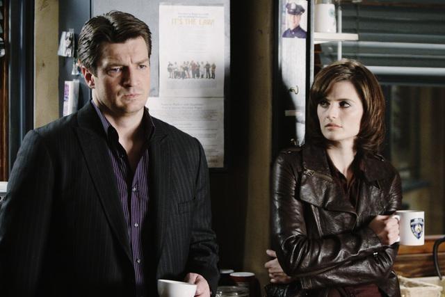 Castle: Nathan Fillion e Stana Katic in una scena dell'episodio Sucker Punch