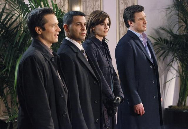 Castle: Seamus Dever, Nathan Fillion e Stana Katic nell'episodio Sucker Punch